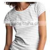 LATEST GIRLS STRIPED CREW NECK T SHIRT