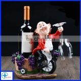 single resin animal wine bottle holder/rack