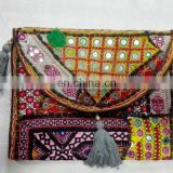 party Clutch bag fashion bag 2016 ladies handbag boho bag banjara bag india mirror work bag wholesale