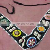 tibal kuchi belts decorated with guls and seashel.