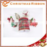 Red Plaid Christmas Ribbon For Christmas Stockings