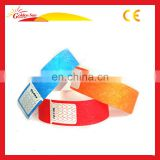 Promotional Items 1 Inch Printed Barcoe Paper Event Inkjet Printing Tyvek Wristband
