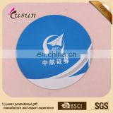 promotional professional mouse pad factory sells custom round soft rubber with febric mouse pad