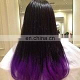 2015 Natural Human Hair cosplay hair wig Ombre Color Lace Front Wig
