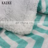 Custom high quality offset printing organic baby muslin swaddle blanket