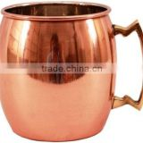 Copper Beer Mug With Solid Brass Handle, Manufacturer of 16 Oz Moscow Mule Mug from India