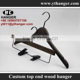 IMY-460 brush off brown wooden thin flat hangers for clothes