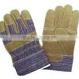 Low Price Cow Split Leather Working Gloves Cow Split Leather Safety Gloves Double Palm AB Class Working