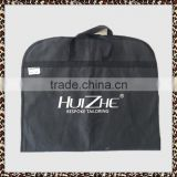 wholesale zip lock black non woven travel suit wedding dress cloth Custom foldable suit garment bag