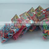 Latex free silicone glitter loom bands