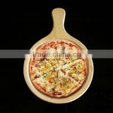 Bamboo cutting board Wood Pizza Peel / Cutting Board / Serving Tray round pizza cutting board