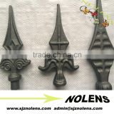 Decorative wrought iron gate fence cast iron spearheads and finials