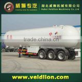 3 axles semi LPG tanker 56.14 m3 lpg transportation truck,lpg gas tank truck