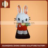 hot sale fiberglass bunny sculpture cartoon statue