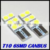 T10 168 Car White 6 5050-SMD LED Inverted Side Marker Turn Wedge Light Bulb brand new good price
