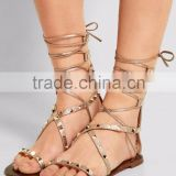 2016 Latest New design fashion high-end quality casual flat lady woman sandal for summer