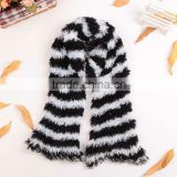 Black White 100% Nylon Fashion Women's Winter Changeable Microfiber Magic Scarf Long Warm Stretchy Wrap Shawl Scarves
