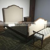 Best selling solid wooden frame fabric cover furniture bed design furniture