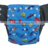 Printed Charcoal Bamboo Diapers Double Gussets Baby Pocket Diaper