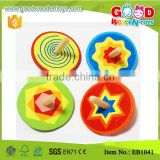 Milk Promotion Colorful Spin Top Children Mini Wooden Toys