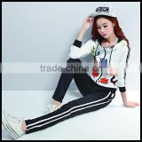 Hot sale women custom priting Trakcsuit, customized printing sports suit, women jogging suit