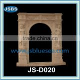 Carving marble door entrance with girl statue