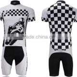 white and black 2014 design your own coolmax sublimated china customized cycling jersey no minimum