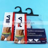 Private Label PVC Bag / Uderwear boxer packaging bag with zipper and hook                                                                         Quality Choice