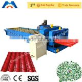 Steel Roof Metal Tile Roll Forming Machine With Touch Screen PLC Frequency Control System
