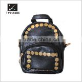 custom fashion PU leather lady backpack girls school backpack bag                                                                                                         Supplier's Choice