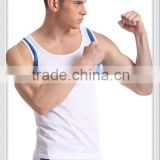 2015 Hot sale summer ultra-thin men polyester breathable sports vest shirt sports shorts