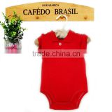 Plain red baby body summer cute polo baby rompers baby clothes