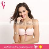 Bra Cup Factory Ladies Sexy Backless Strapless Push Up Bra Girls Wear Silicone Cloth Bra Brassiere