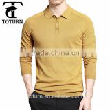 Wholesale china family couple custom printing Logo men sport golf polo neck design long yellow latest style men's t-shirt