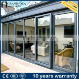 Waterproof veranda double glazing aluminum bi folding door design                                                                         Quality Choice                                                     Most Popular