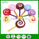 cheap bulk christmas gifts sweet cotton promotional lollipop shape towel cake                                                                                                         Supplier's Choice