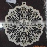 Laser carved Christmas decoration(wooden crafts/wood gift/wood art in laser-cutting & engraving)