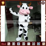 Mordern best-selling movable plush mascot animal cow costumes