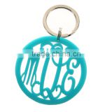 Custom Logo Promotional Item Giveaway Gift Printed Acrylic Carabiner keychain with lanyard and keyring