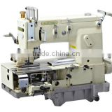KANSAI SPECIAL SEWING MACHINE DFB1412PQ type 12 needle double chain stitch machine for simultaneous shirring