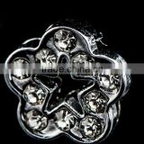 2015 Hot Alloy Rhinestone Flower And Star Shape 8mm Slide Charms Shining Beads