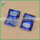 112# high quality rough spinel rectangle cut synthetic stone blue sapphire price