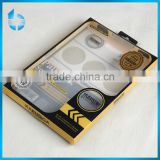 Formal factory professionly supply black and gold printing pvc packaging box for film coating of mobile phone