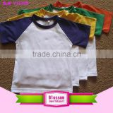 Children fashion design T shirt short sleeve plain blank t shirt summer kids t shirt                                                                                                         Supplier's Choice