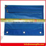 Nylon Pencil Binder Pouch with 2 zipper and mesh