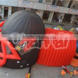 hot sale inflatable helmet tunnel, inflatable soccer tunnel, advertising inflatable helmet tunnel