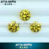 Cubic zirconia yellow brilliant round cut golden cubic zirconia
