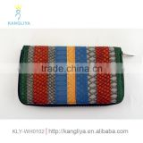 Women money bag security long purse brand style rainbow colorful fashion wallet