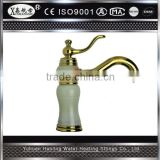 Single Handle Brass with natural jade Basin Faucet