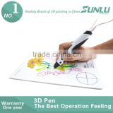 2016 New !! with PLA/ABS filament refills Smart 3d printing drawing pen for kids